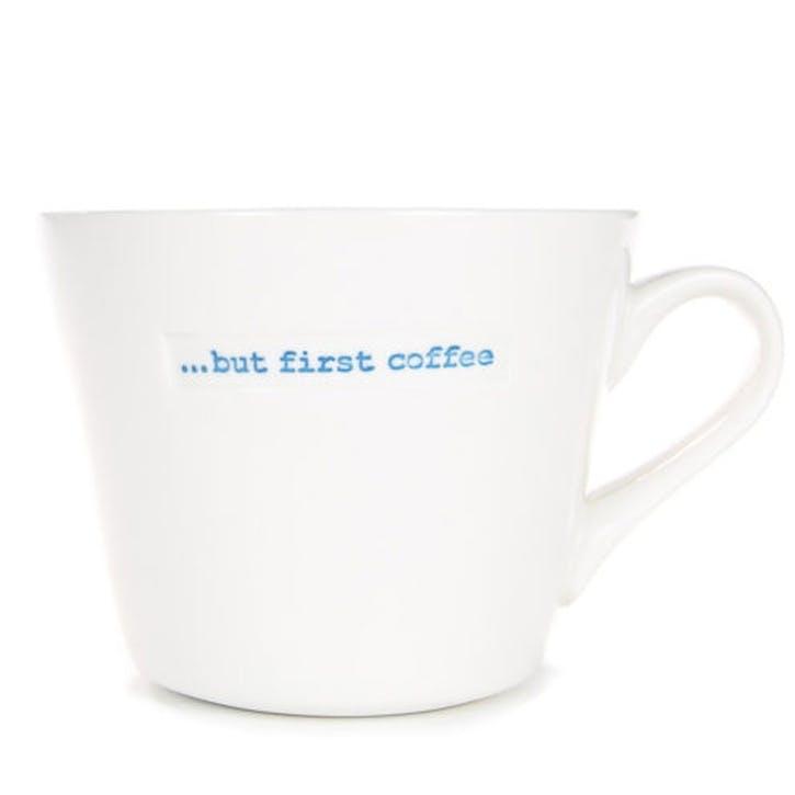 'But first coffee' Bucket Mug, 350ml