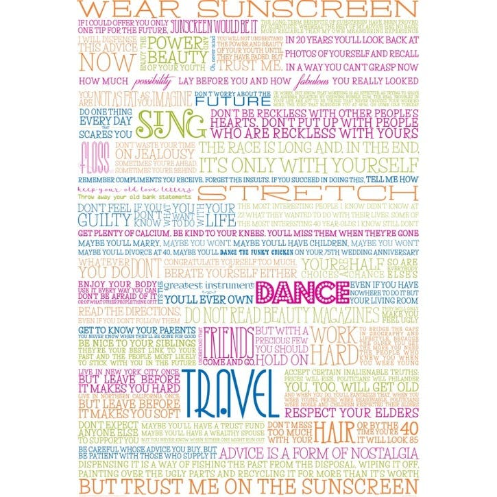 Sunscreen Print, Colour
