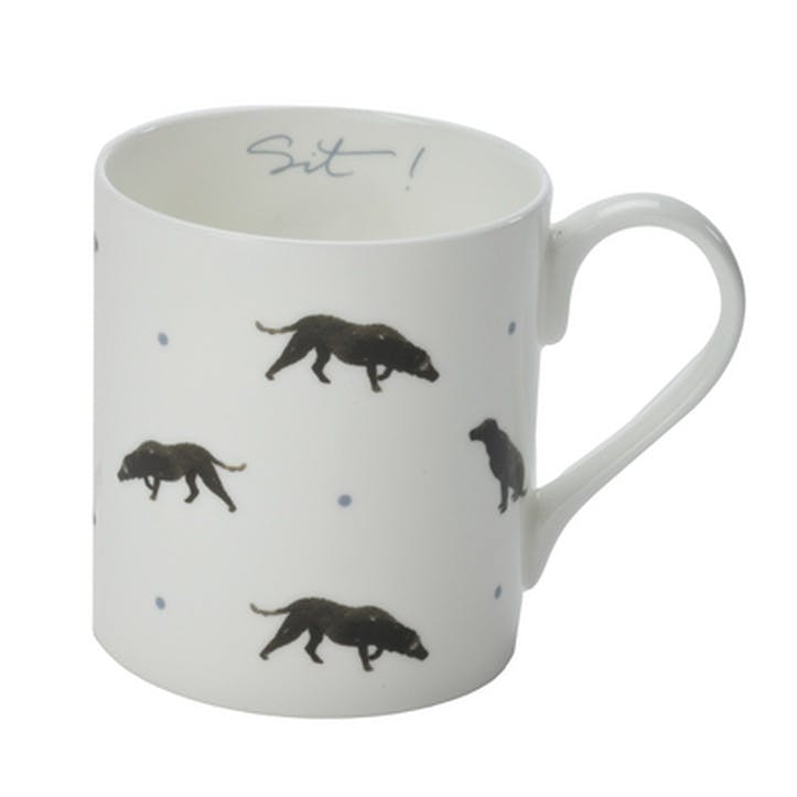 'Sit!' Mug - Large; White