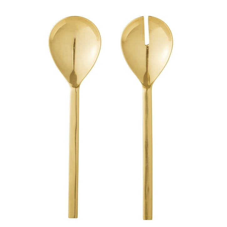 Gisele Salad Servers, Gold