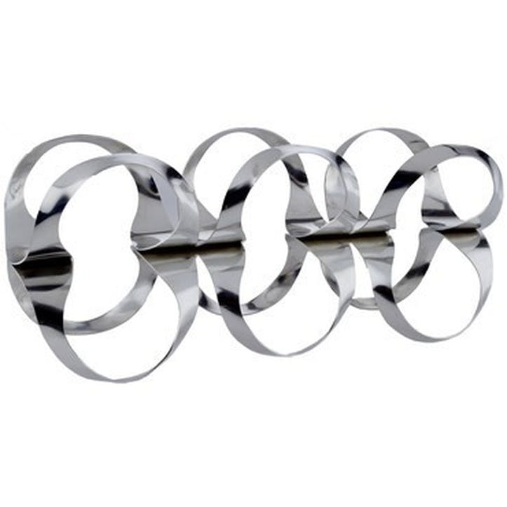 Ribbon Wine Rack; Stainless Steel