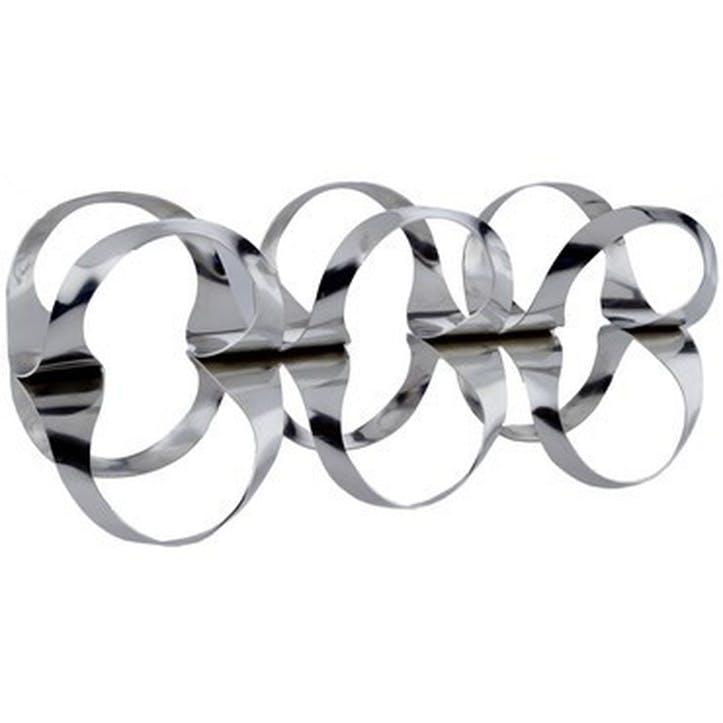 Ribbon Wine Rack; Stainless Steel