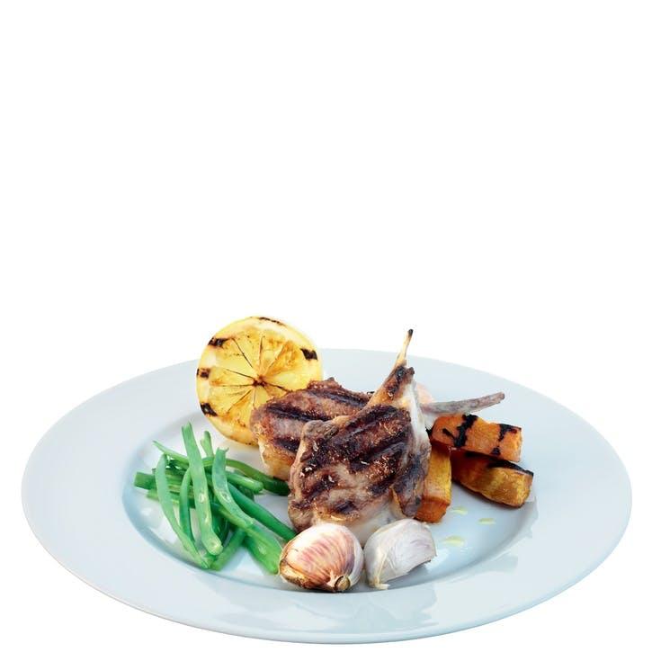 LSA Dine Rimmed Dinner Plate, Set of 4