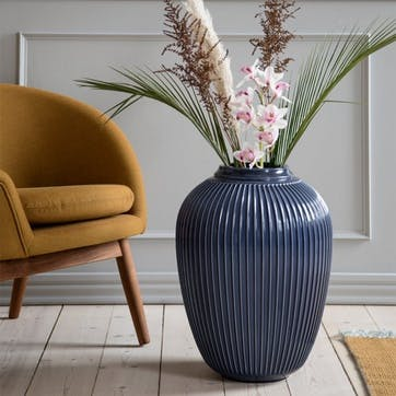 Hammershøi Floor Vase, Indigo