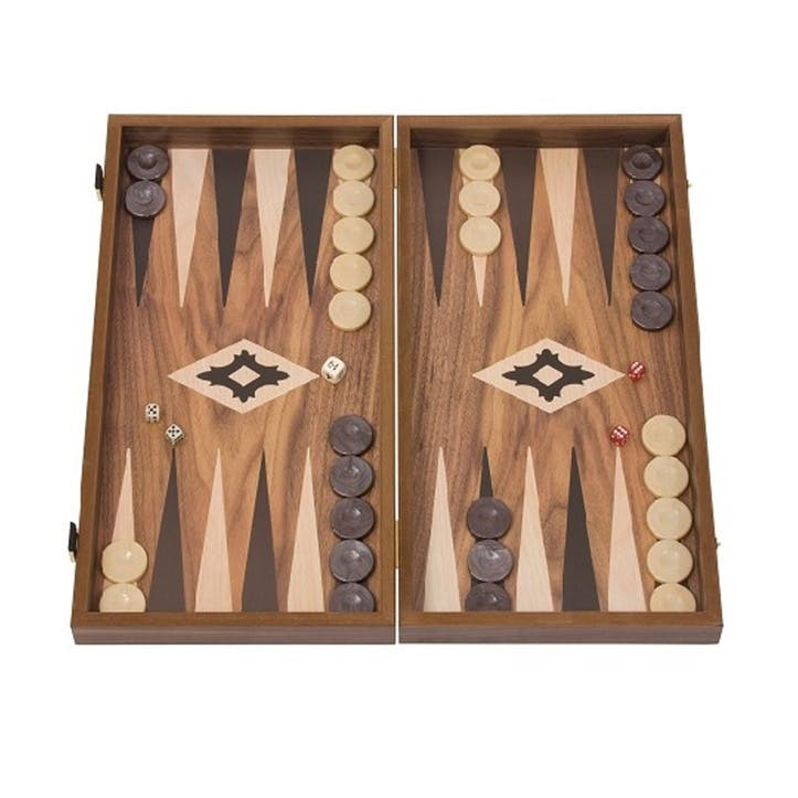 Walnut Backgammon Set, 50cm; Brown