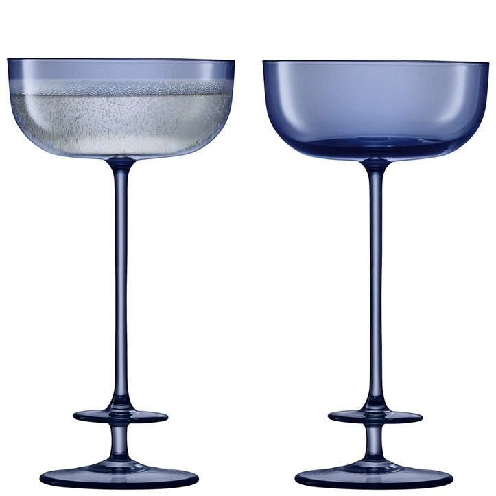 Champagne Theatre Set of 2 Saucers - 190ml; Midnight Blue
