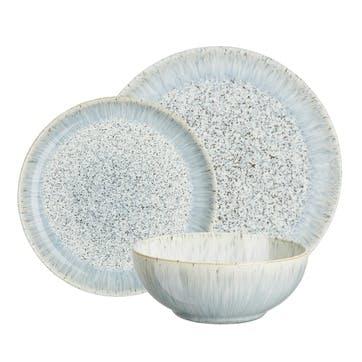 Halo 12 Piece Speckle Coupe Dinnerware Set