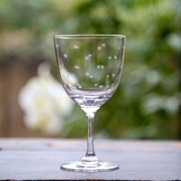 Stars Crystal Wine Glasses, Set of 6