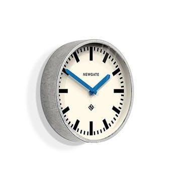 The Luggage, Wall Clock, W30cm x D7cm x H30cm, Blue Hands