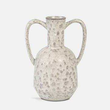 Sara Speckled Glaze Vase, Beige/Natural