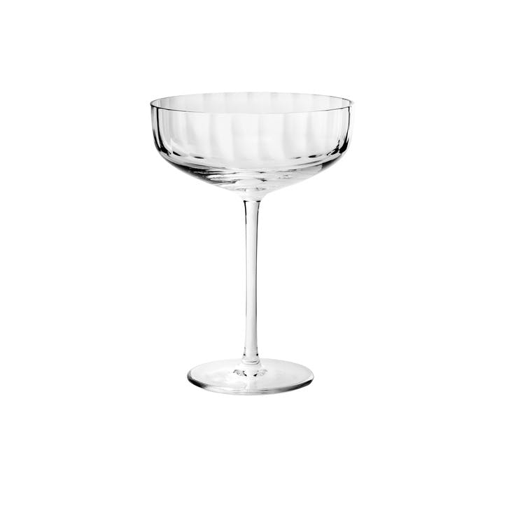 Fluted Coupe Glass
