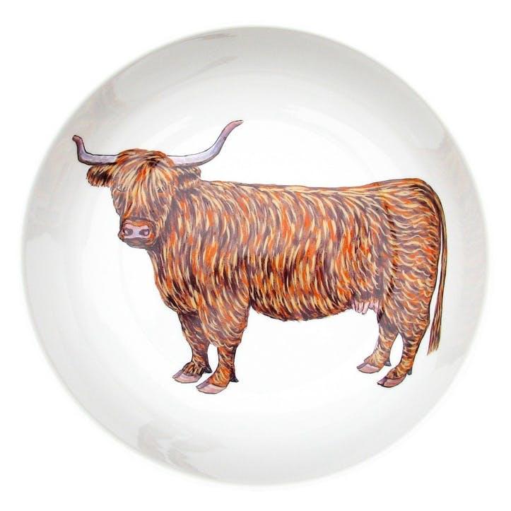 Highland Cow Round Bowl - 24cm