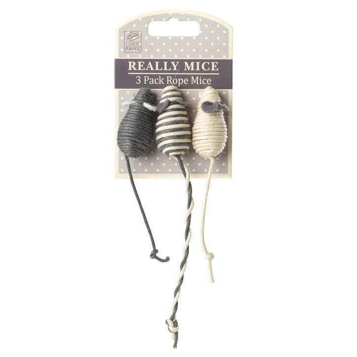 Set of 3 Rope Mouse Toys