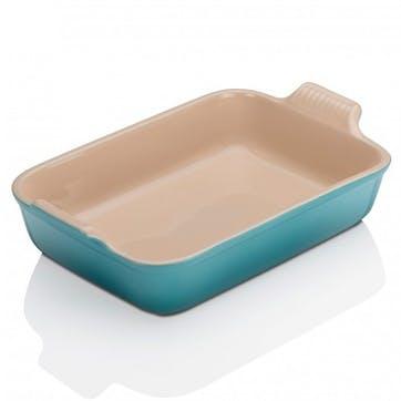 Stoneware Rectangular Dish - 32cm; Teal