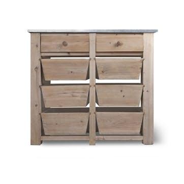 Aldsworth 8 Drawer Storage Unit - Spruce
