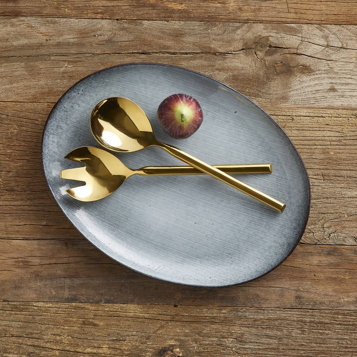 Jewel Gold Salad Servers