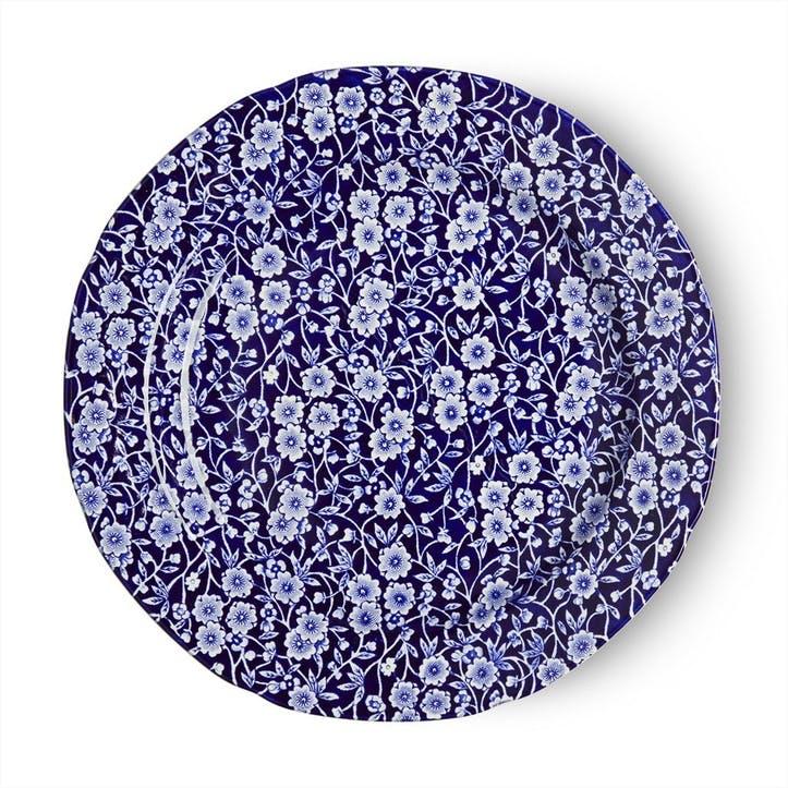 Calico Plate, 26.5cm, Blue