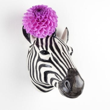 Zebra Wall Vase, H15cm