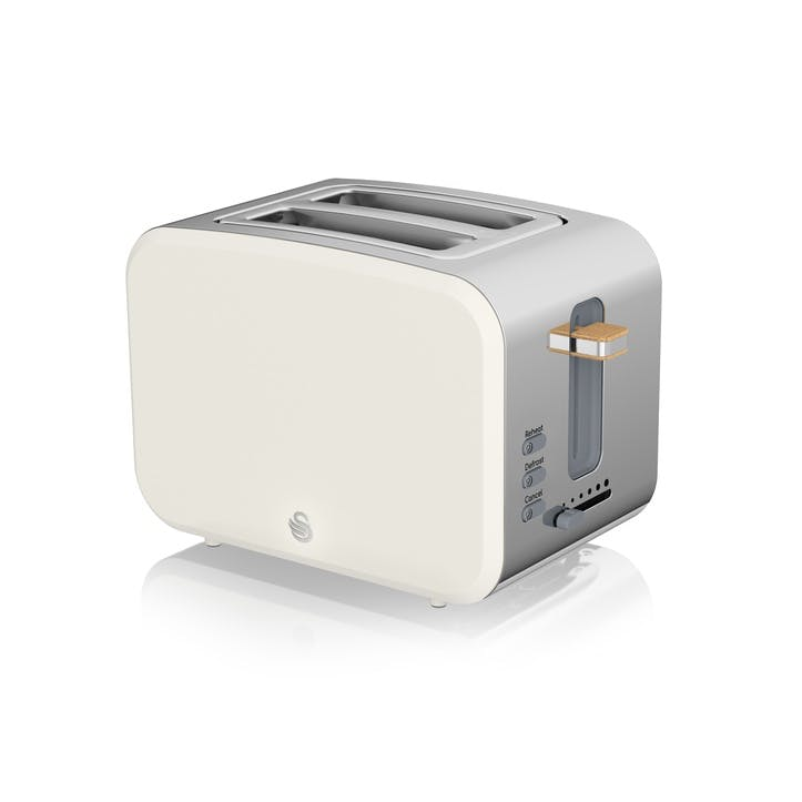 Nordic 2-Slice Toaster, Cotton White