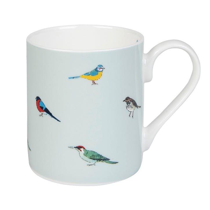 'Garden Birds' Coloured Mug, Standard