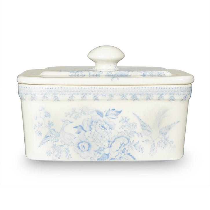 Asiatic Pheasants Butter Dish, 400g, Blue