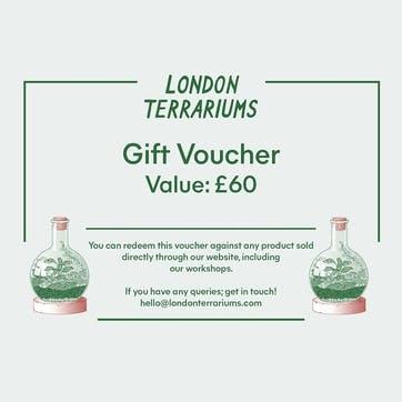 Terrarium Workshop £60 Gift Voucher