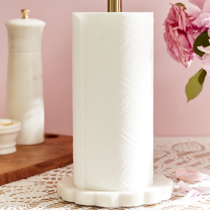 Marble and Gold Kitchen Towel Holder