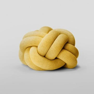 Knot Cushion, Yellow