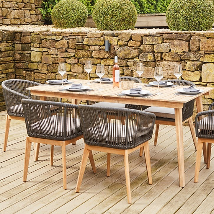 Honolulu Dining Set, Grey
