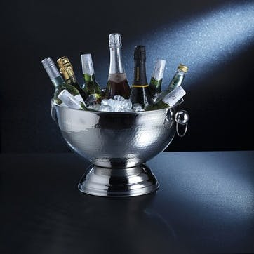 Hammered Stainless Steel Champagne Bowl