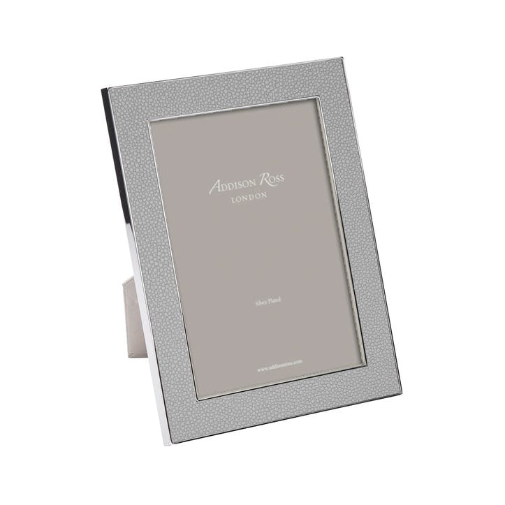 "Shagreen Photo Frame - 4""x6""; Grey"
