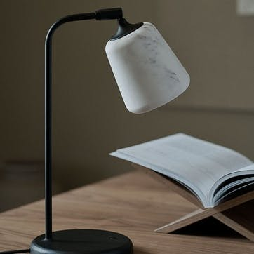 Material, The Black Sheep, Table lamp, W19 x D25cm, White Marble