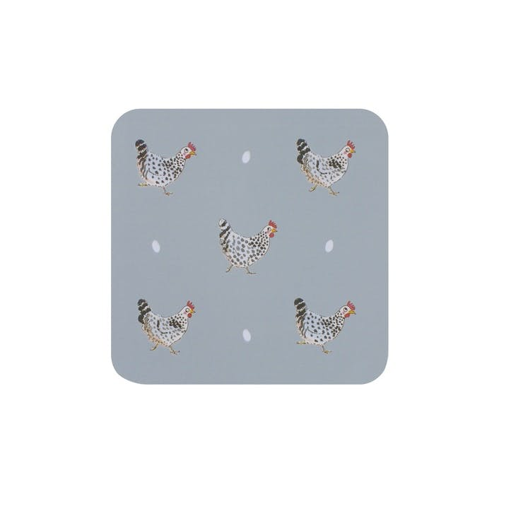 'Chicken' Coasters, Set Of 4