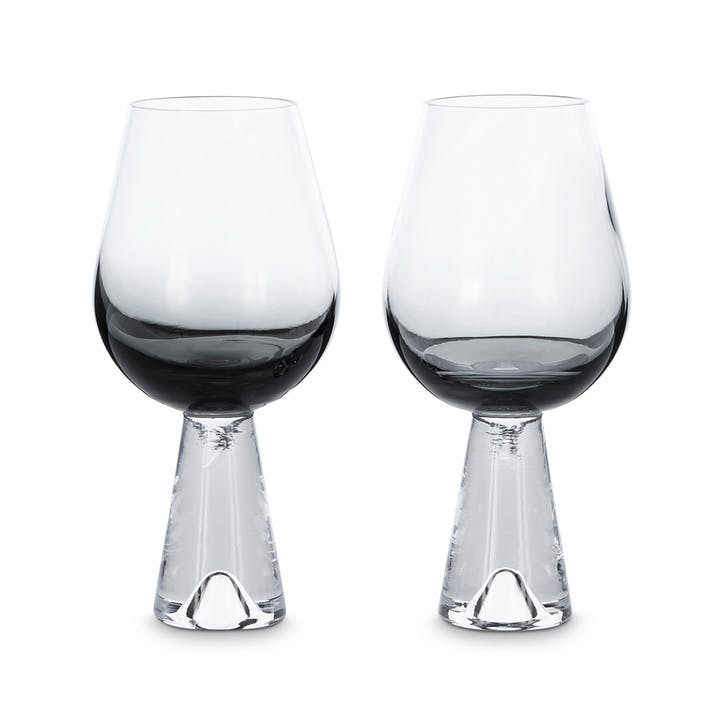 Tank Wine Glasses, Set of 2, Black