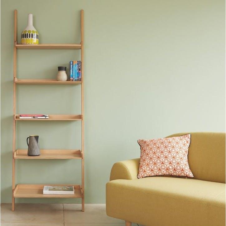Jessie Leaning Bookcase, Oak
