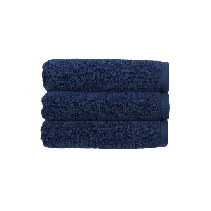 Honeycomb Bath Towel, Navy