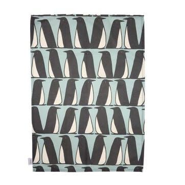Pedro Penguin Tea Towels, Set of 2, Ice
