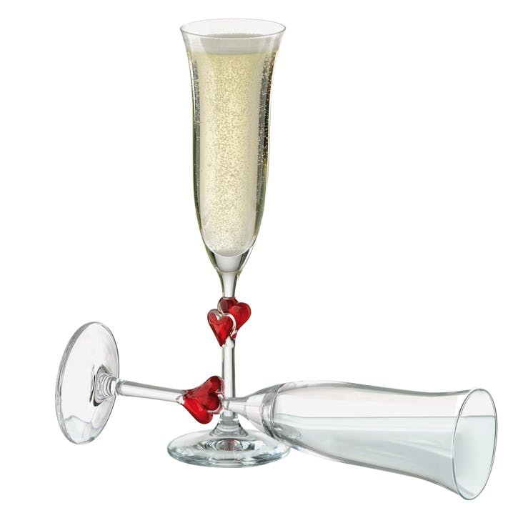 Heart Champagne Flutes, Set of 2