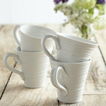 Solo Mugs, Set of 4; White