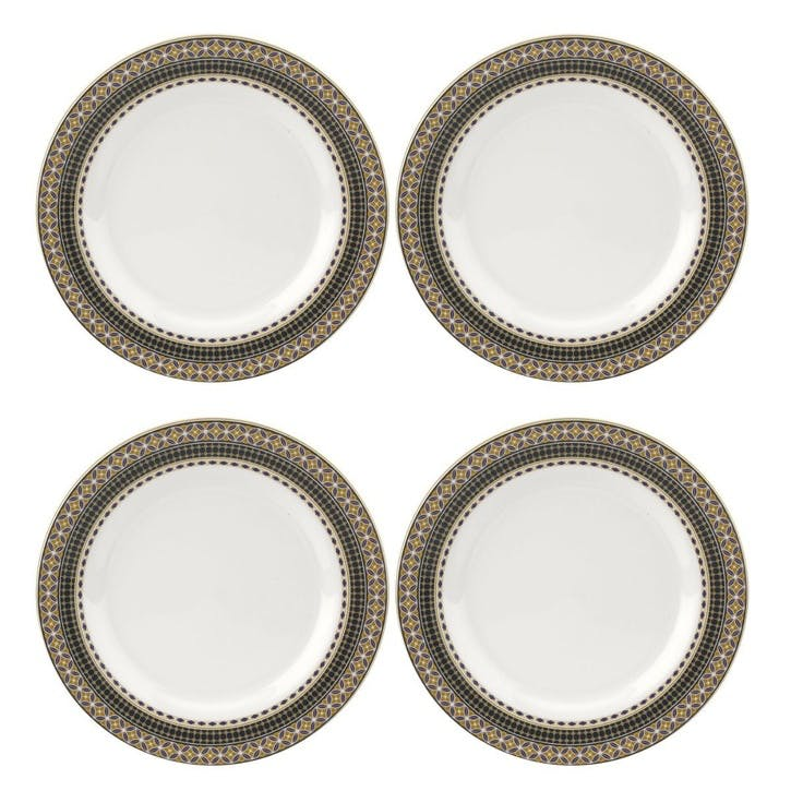 Atrium Dinner Plates, Set of 4, 11""
