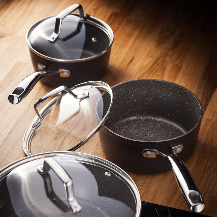 Rocktanium, 5 Piece Saucepan Set
