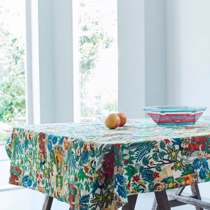 Frida Tapestry Print Tablecloth, Square