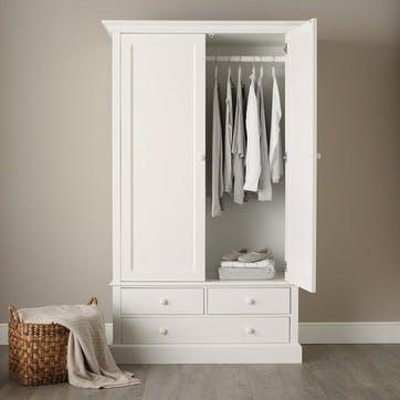Classic Large Wardrobe, White