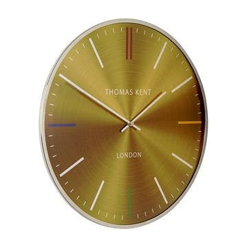 Oyster Clock, 41cm, Amber