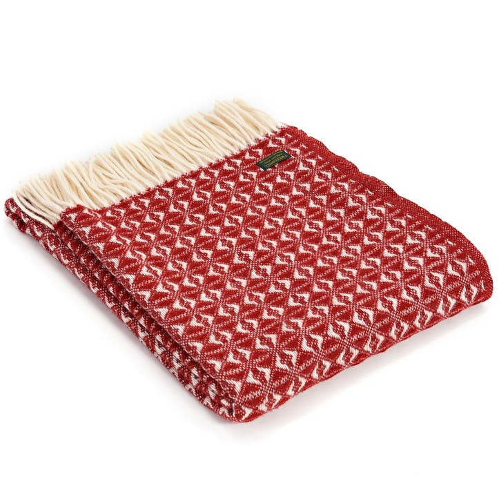 Cobweave Throw; Red