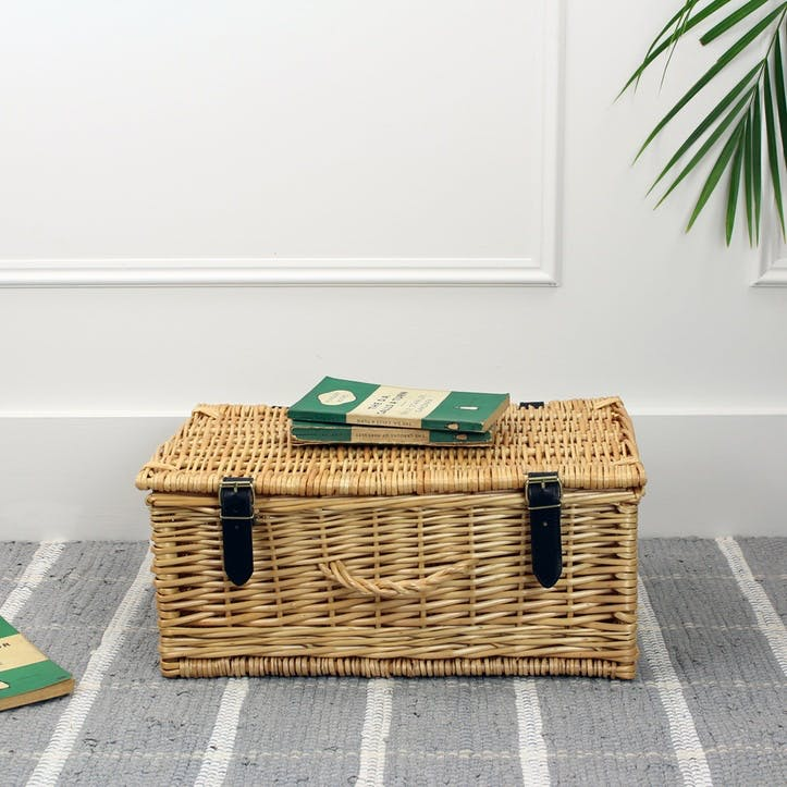 Wicker Hamper - 16 Inch; Natural