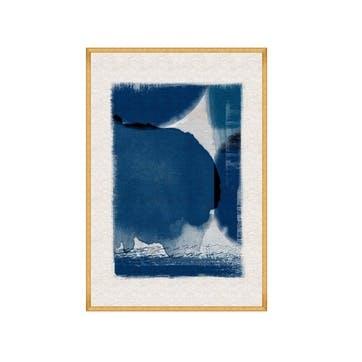 Indigo Marvel I, Gold Framed Print,70 x 100cm