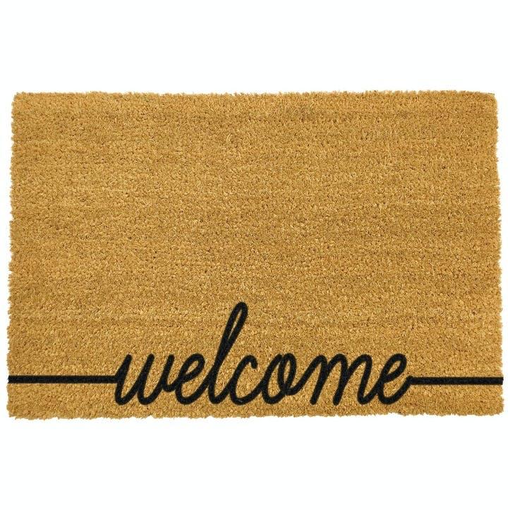 Welcome Scribble Doormat, Black