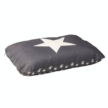 Star Print Water Resistant Cushion, M/L, Grey