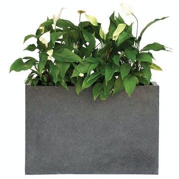 Urban Terrazzo Rectangular Planter; Black